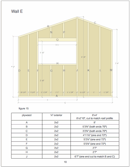 Example page of wall framing technique