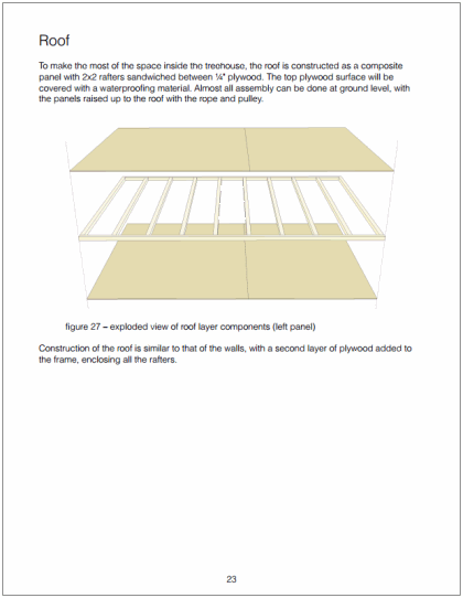 Example page of roof assembly process