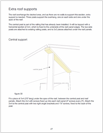 Example page showing roof support parts