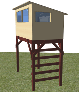 Freestanding Savanna bird hide